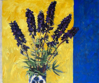 Scottish Artist John BROWN - Hilary's Delphinium