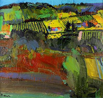 Scottish Artist John BROWN - Across the Valley