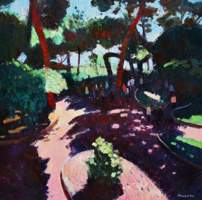 Scottish Artist John KINGSLEY - Le Jardin Exotique, Monaco