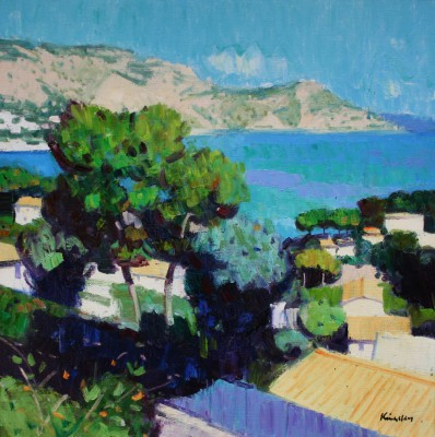 Scottish Artist John KINGSLEY - Tall Pines, Cap Ferrat