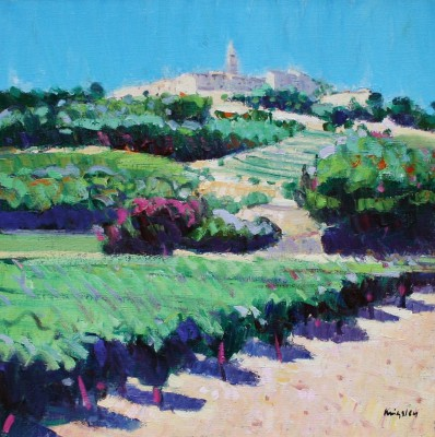 Scottish Artist John KINGSLEY - Vineyards, La Cadiere d'Azur