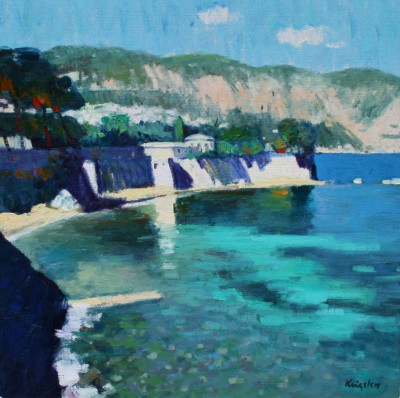 Scottish Artist John KINGSLEY - Mediterranean at Cap Ferrat