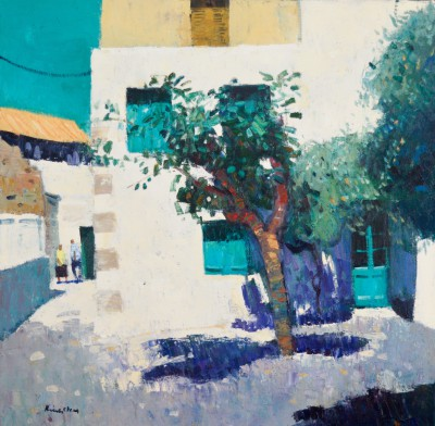 Scottish Artist John KINGSLEY - Morning Shadows, Crete