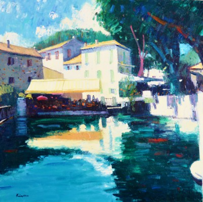 Scottish Artist John KINGSLEY - Fontaine de Vaucluse