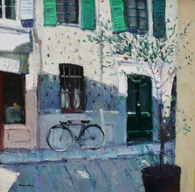 Quiet Corner, Vence painting by artist John KINGSLEY PAI RSW