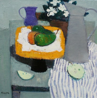 Scottish Artist John KINGSLEY PAI RSW  - Still Life with Pears