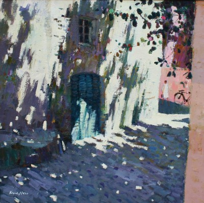 Scottish Artist John KINGSLEY PAI RSW  - Shaded Doorway, Calvi