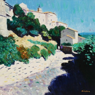 Scottish Artist John KINGSLEY PAI RSW  - Gordes, Provence