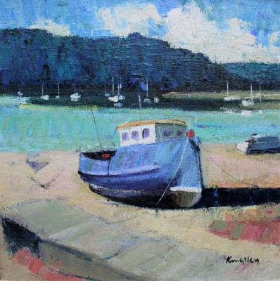 John KINGSLEY PAI RSW  - Boats at Kipford