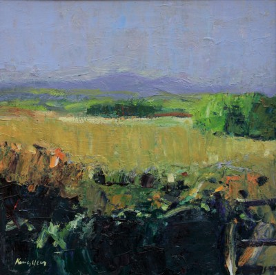 Scottish Artist John KINGSLEY PAI RSW  - Autumn Landscape, Galloway