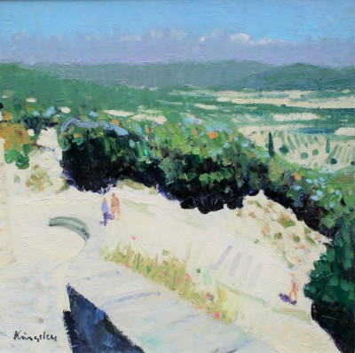 Luberon Valley at Gordes painting by artist John KINGSLEY PAI RSW
