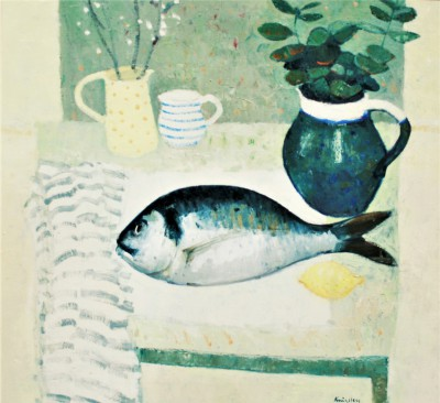 John KINGSLEY PAI RSW  - Still Life with Sea Bream