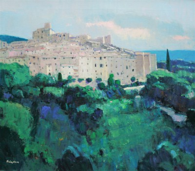 Scottish Artist John KINGSLEY PAI RSW  - Tourettes-sur-Loup