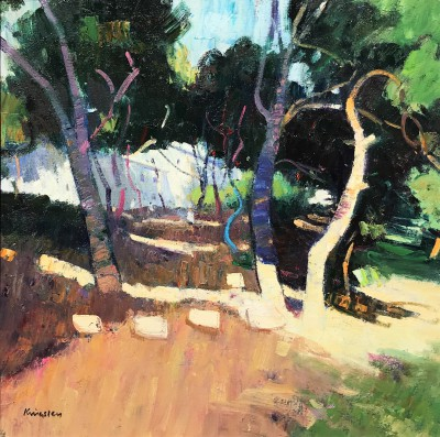 Scottish Artist John KINGSLEY PAI RSW  - Evening Light, Agde