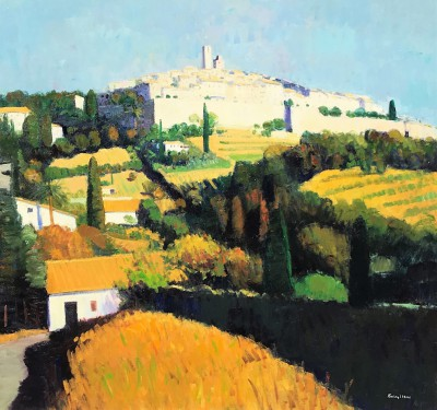 Scottish Artist John KINGSLEY PAI RSW  - St Paul de Vence