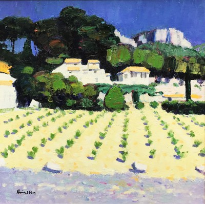 Scottish Artist John KINGSLEY PAI RSW  - Young Vines, Cassis