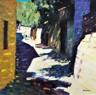 Shaded Path, Vaison-la-Romaine painting by artist John KINGSLEY PAI RSW