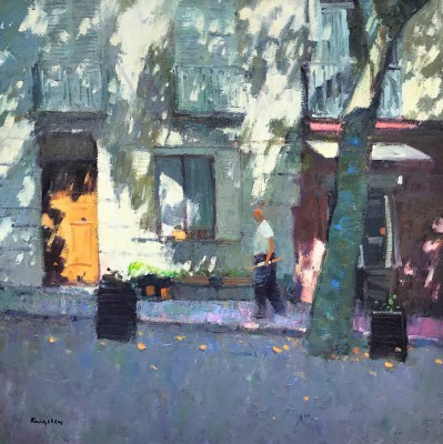 John KINGSLEY PAI RSW , contemporary artist - Shaded Street, Bargemon