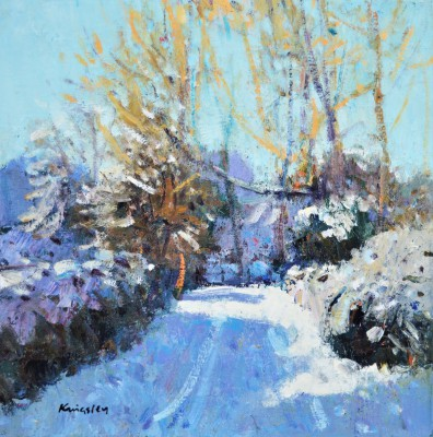 Snow Covered Path, Strachur, Argyll painting by artist John KINGSLEY PAI RSW