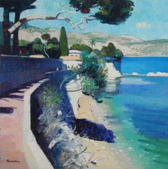 Scottish Artist John KINGSLEY - Coastal Path, Cap Ferrat