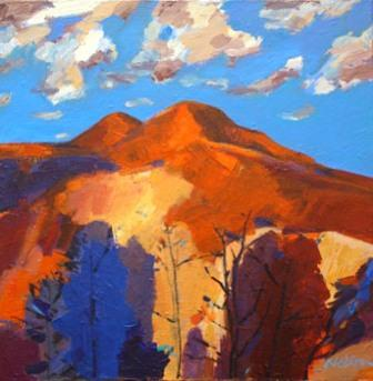 Scottish Artist John NELSON - Clouds over Eildons, Melrose