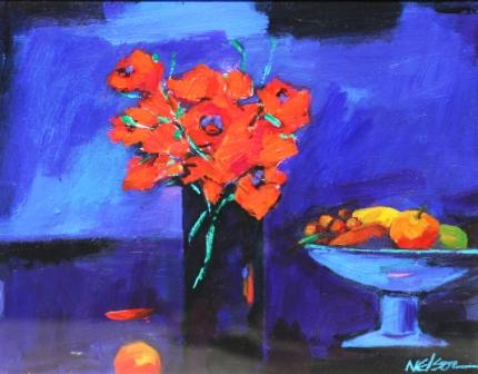 John NELSON - Still Life with Flowers