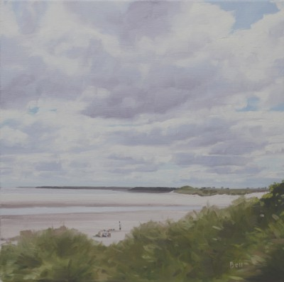Scottish Artist John BELL - On the Beach at Alnmouth