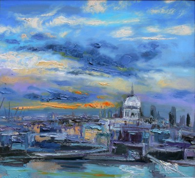 Judith BRIDGLAND - St Pauls from the Tate, Evening