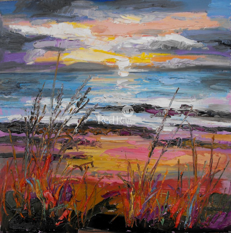 Judith BRIDGLAND - Setting Sun and Grasses, Ayr