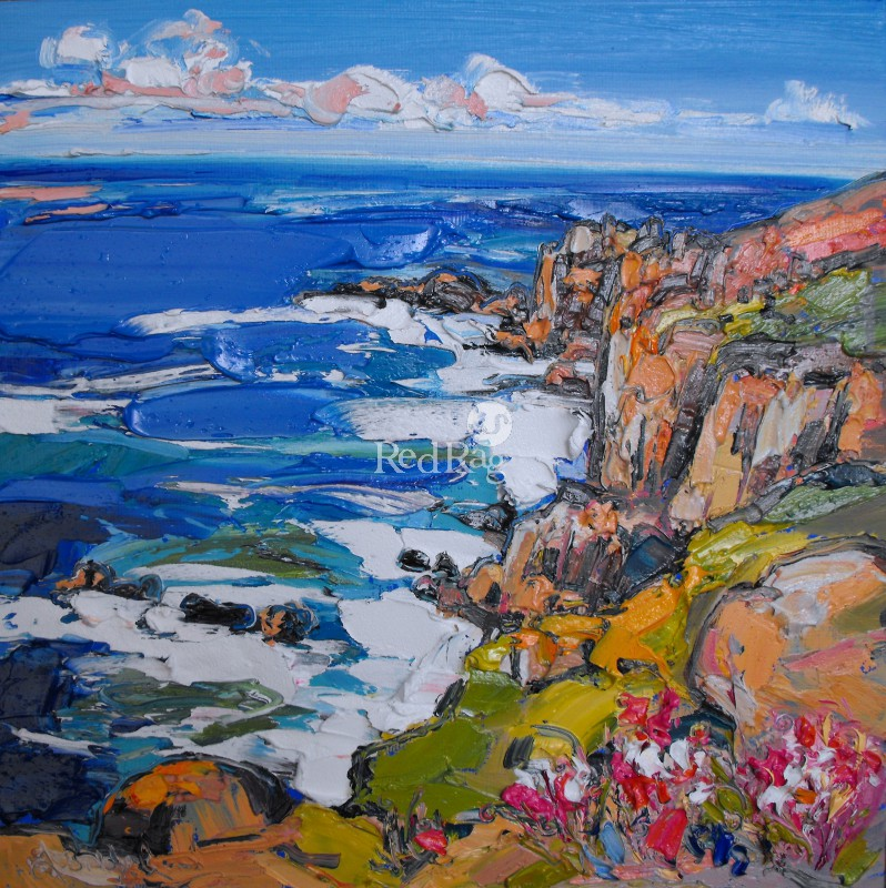 Judith BRIDGLAND - Sea Pinks at Cliff Edge, Lands End