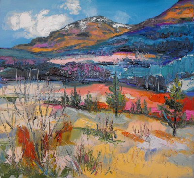 Judith BRIDGLAND - Winter Colours, Glen Lochy