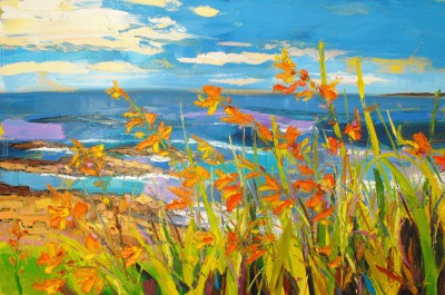 Judith BRIDGLAND - Montbretia in Sea Breeze, Portrush