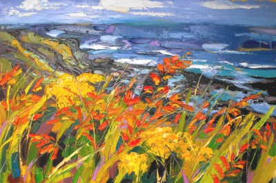 Judith BRIDGLAND - Wind Blowing across the Cliff, Causeway Coast