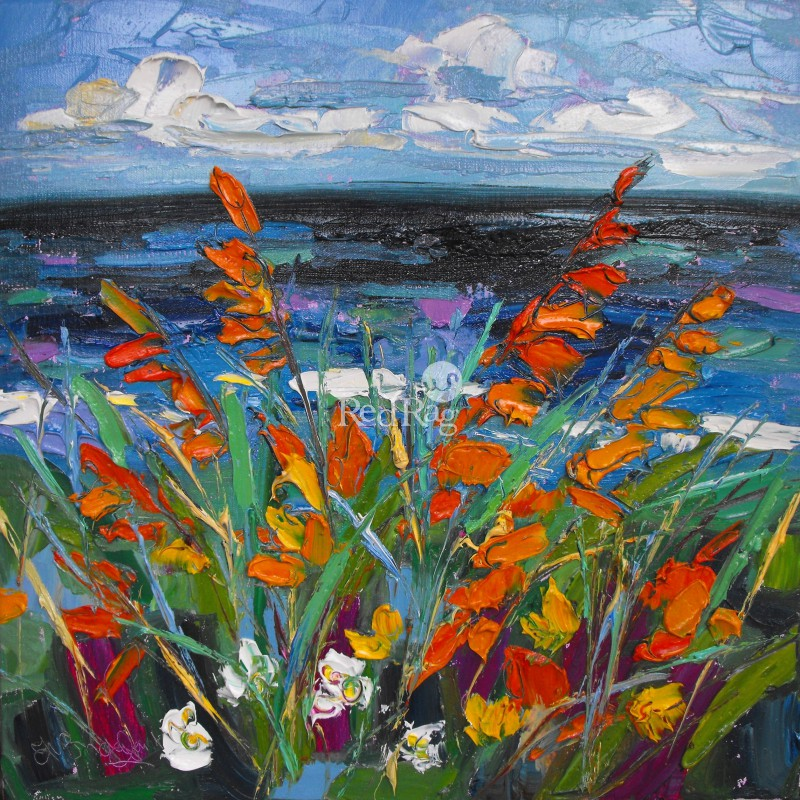 Judith BRIDGLAND - Montbretia by the Sea