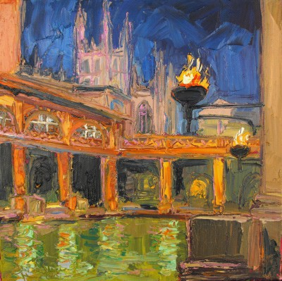 Scottish Artist Judith BRIDGLAND - Bath Abbey