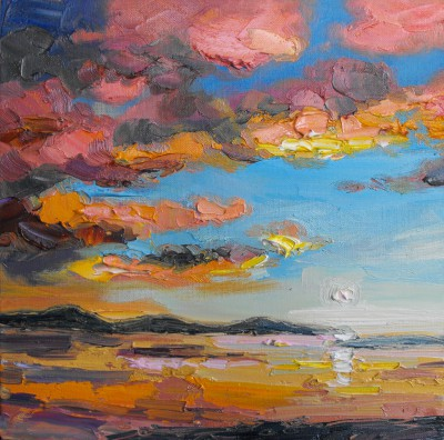 Scottish Artist Judith BRIDGLAND - Evening Clouds, Summer Isles