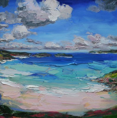 Scottish Artist Judith BRIDGLAND - Clouds over Coldbackie