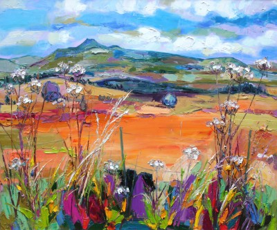 Scottish Artist Judith BRIDGLAND - Ben Lomond from Queens View