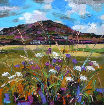 Scottish Artist Judith BRIDGLAND - Green Hedgerow, Causeway Coast