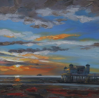 Scottish Artist Judith BRIDGLAND - Low Sun, Weston-super-Mare