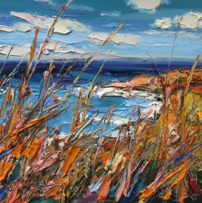 Scottish Artist Judith BRIDGLAND - Grasses near Yellowcraig Beach