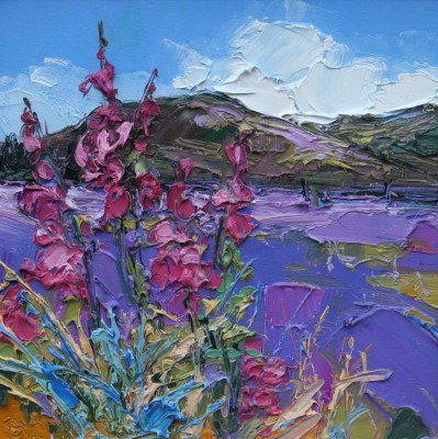 Scottish Artist Judith BRIDGLAND - Foxgloves, Argyll