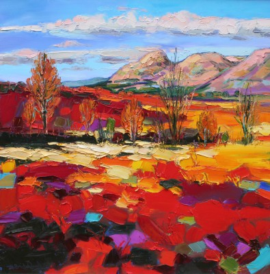 Scottish Artist Judith BRIDGLAND - Autumn Colours, the Campsies