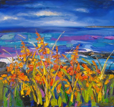 Scottish Artist Judith BRIDGLAND - Dark Sky near Portrush