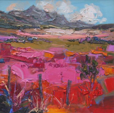 Scottish Artist Judith BRIDGLAND - Pink Grasses, Ben Loyal
