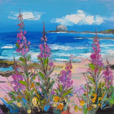 Scottish Artist Judith BRIDGLAND - Rosebay Willowherb at North Berwick