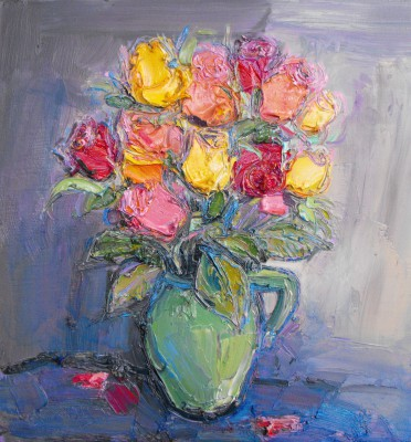 Scottish Artist Judith BRIDGLAND - Fallen Petals