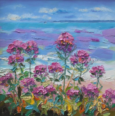 Scottish Artist Judith BRIDGLAND - Red Valerian, St Ives