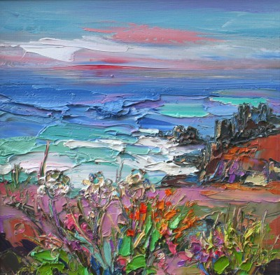 Scottish Artist Judith BRIDGLAND - Calm Evening Sky, Land's End