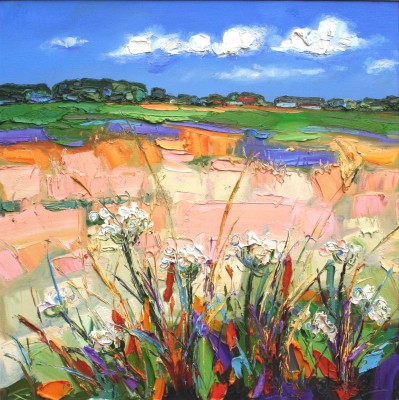 Scottish Artist Judith BRIDGLAND - Harvest, East Fortune